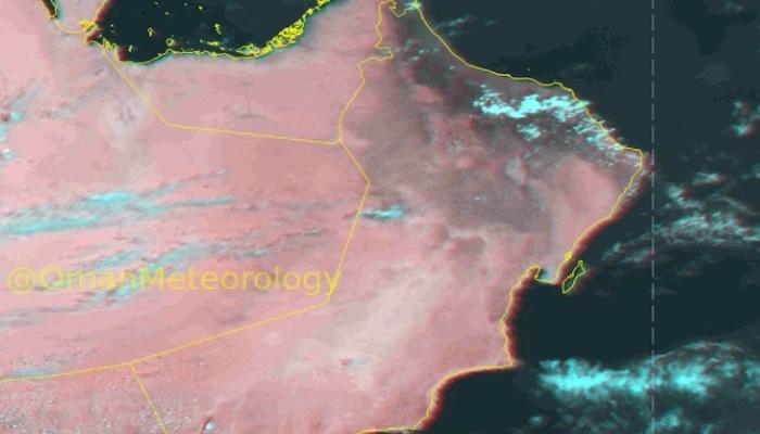 Heavy rainfall over parts of Oman