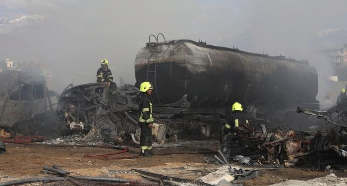 Several dead after fuel tankers catch fire in Kabul