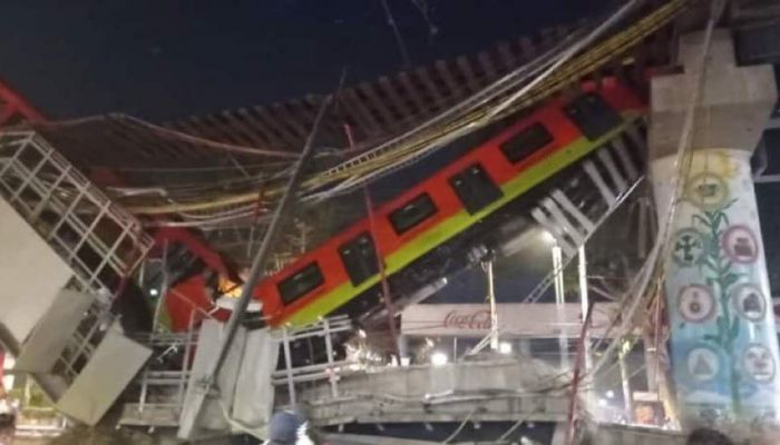 سقوط قطار من جسر في المكسيك يؤدي بحياة العشرات