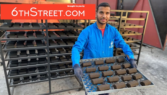 Students in Oman produce coal from coffee residue