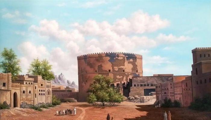 رسام عراقي يصف الطبيعة العمانية بامتداد تاريخي 'عريق'
