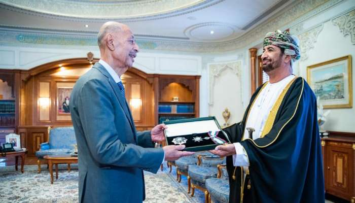 HM The Sultan confers Renaissance of Oman Order on Mohammed Mustafa