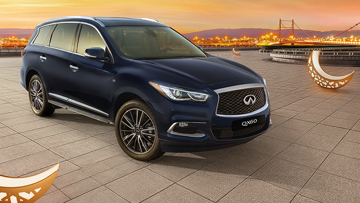 Avail special offer on family-friendly crossover INFINITI QX60