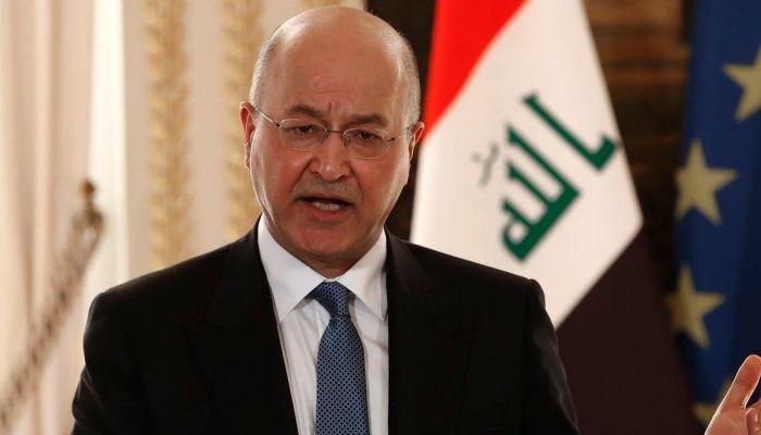 الرئيس العراقي يؤكد على ضرورة العمل المشترك لإنهاء معاناة الشعب الفلسطيني