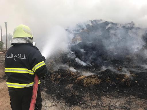 حريق يتسبب في إصابة شخصين بصلالة