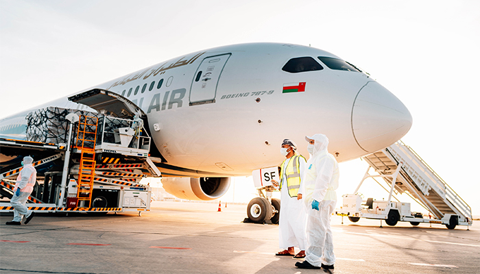 Oman Air activates humanitarian 'Cargolift' flights to India in cooperation with Oman's Foreign Ministry and the Indian community in Oman