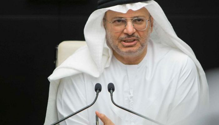 قرقاش يرفض المزايدة على موقف الإمارات من القضية الفلسطينية