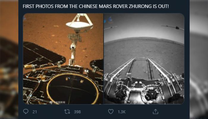 هبوط أول رحلة استكشاف للكوكب الأحمر في الصين