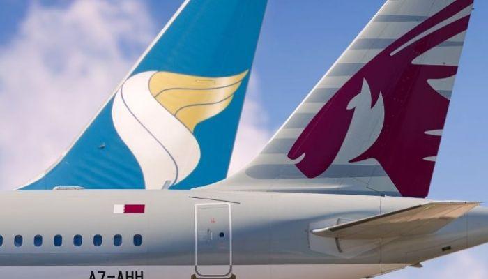 الطيران العُماني والخطوط الجوية القطرية يعززان التعاون الاستراتيجي المشترك بينهما