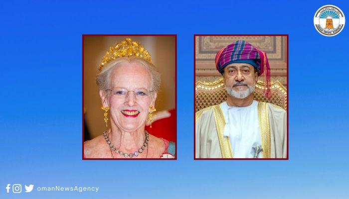 جلالة السلطان المعظم يهنئ ملكة الدنمارك