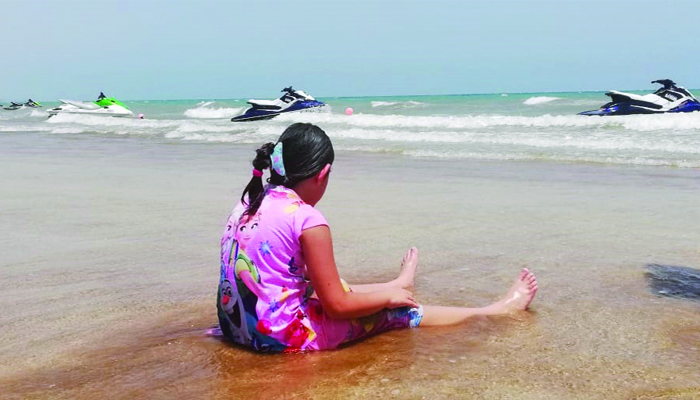 Children in Oman happy to return  to parks and beaches