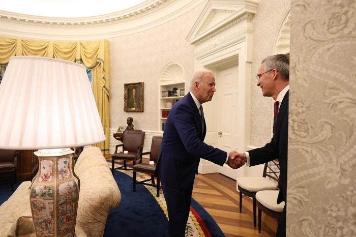 Joe Biden, Jens Stoltenberg meet ahead of NATO summit