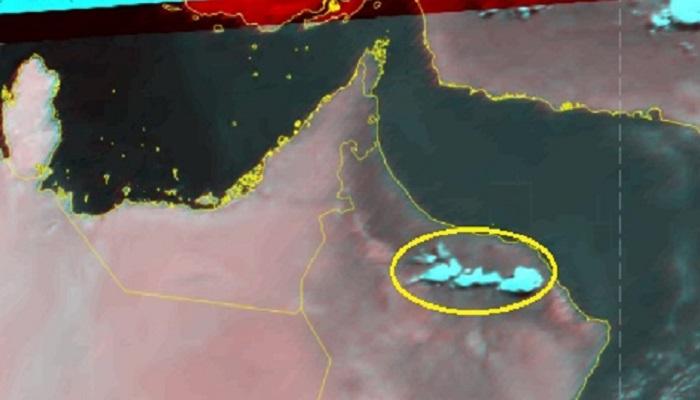 Oman's Al Hajar Mountains witness thunderstorms