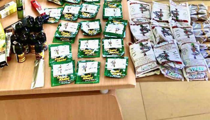 ضبط محل لبيع المواد الغذائية يقوم ببيع وتداول كميات من التبغ الممضوغ