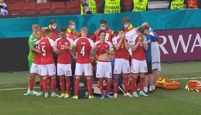 اليويفا يقرر تعليق مباراة الدنمارك وفنلندا بعد سقوط نجم الدنمارك أريكسن مغشيا عليه