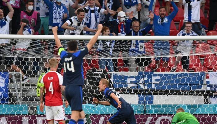 فنلندا تحقق أول فوز في أول ظهور ببطولة كأس أمم أوروبا على الدنمارك