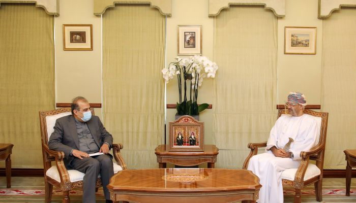 وزير الخارجية يستقبل مستشار إيراني