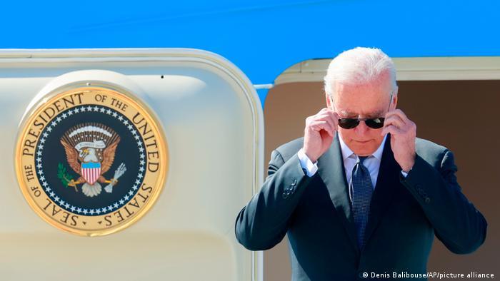 Biden lands in Geneva for tense summit with Putin