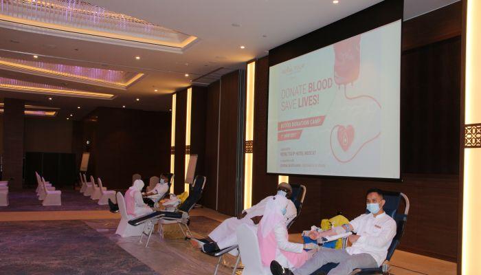 فندق رويال توليب مسقط ينظم حملة للتبرع بالدم
