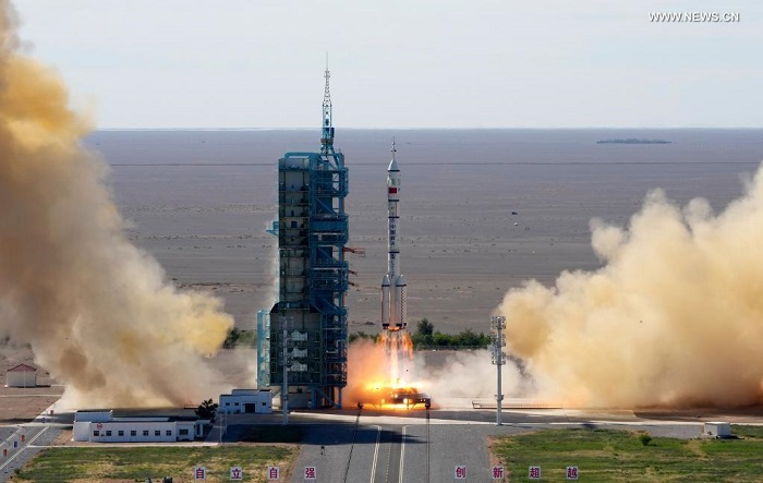 China launches first crew mission for space station construction