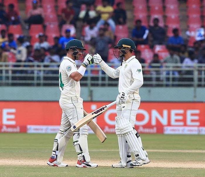 WI vs SA, 2nd Test: Dean Elgar, De Kock lead Proteas fightback on Day One