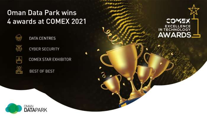 Oman Data Park wins four awards at COMEX 2021