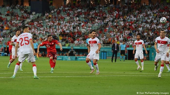 Switzerland 3-1 Turkey: Shaqiri shines as Swiss close on last 16