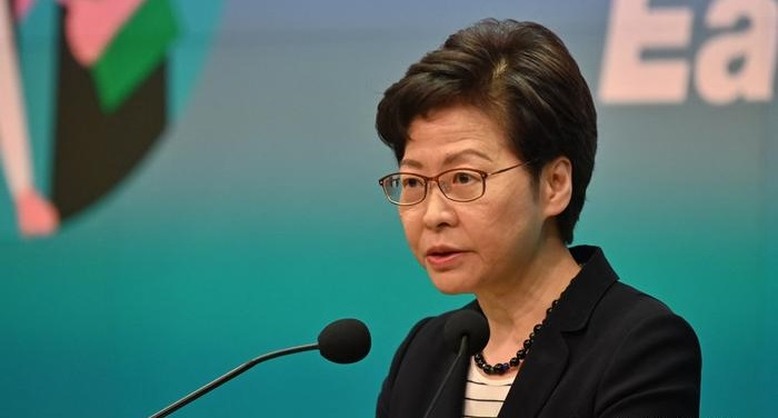 Hong Kong's Lam hits back at criticism over Apple Daily raid