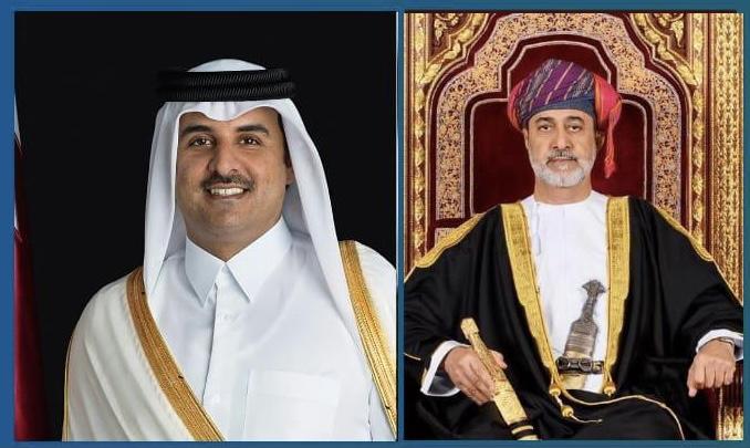 جلالة السلطان يهنئ أمير دولة قطر بمناسبة ذكرى تولّيه مقاليد الحكم