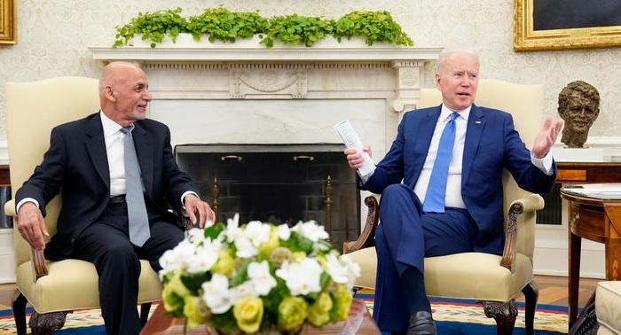 Biden meets Ghani amid US troop withdrawal from Afghanistan
