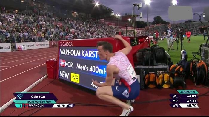 Karsten Warholm breaks 29-year-old world record in 400m hurdles