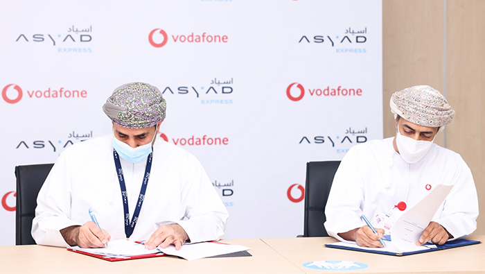 Asyad Express, Vodafone Oman sign pact for fulfilment and express delivery solutions