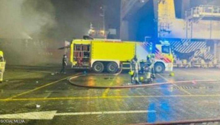 حكومة دبي: إخماد حريق الحاوية خلال 40 دقيقة فقط