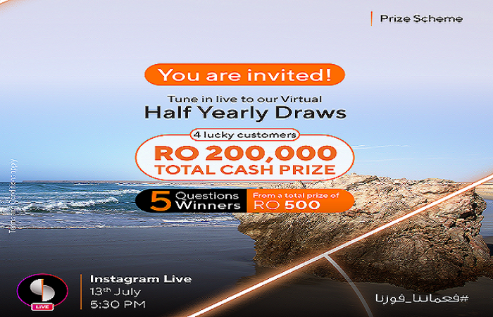RO 200,000 cash prizes to be won in Sohar International's Prize Scheme 2021 Half-Year Draws tomorrow