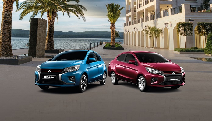Affordable EMIs on redesigned 2021 Mitsubishi Mirage and Attrage