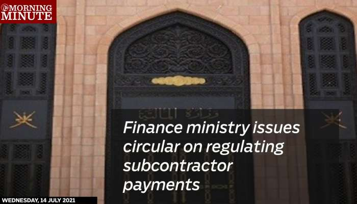 Finance ministry issues circular on regulating subcontractor payments