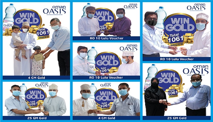 Oman Oasis 'Win Gold' offer announces winners of first draw