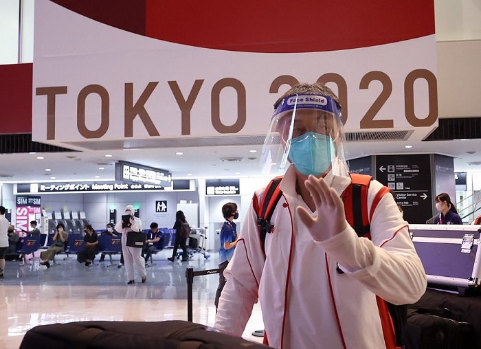 A glimpse of 'Olympic bubbles' at Japan's major gateway