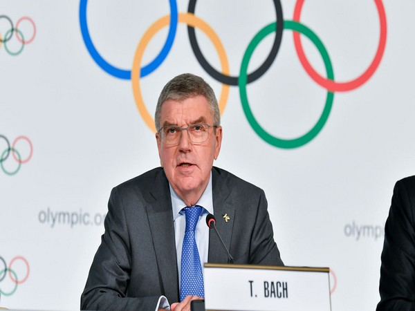 IOC president Bach urges athletes to sign on the Olympic Truce Mural
