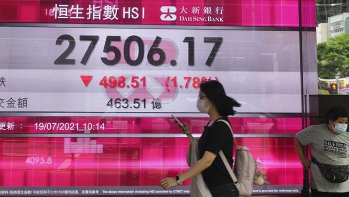 Global shares fall on virus fears; oil slips on Opec deal