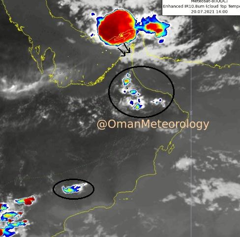 هطول أمطار متفاوتة الغزارة على عدد من محافظات السلطنة