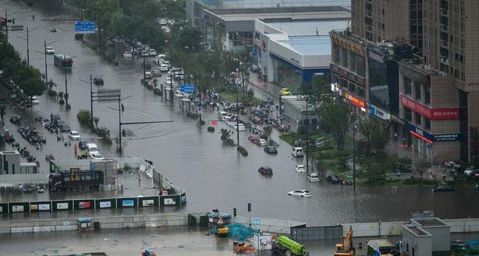China's Henan province inundated by heavy rain, floods