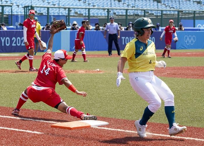 Japan beats Australia 8-1 in Tokyo Olymics softball opener