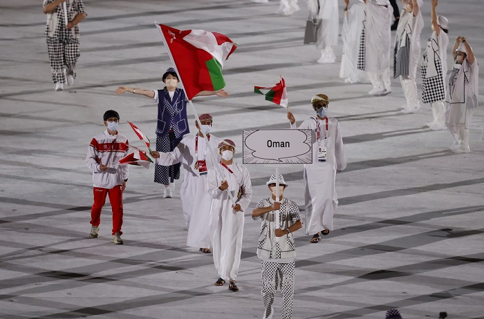 Oman's delegation takes part in Tokyo 2020 opening ceremony