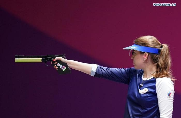 Russian shooter Batsarashkina wins women's 10m air pistol at Tokyo Olympics