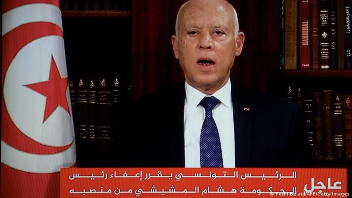 Tunisian president sacks PM, freezes parliament