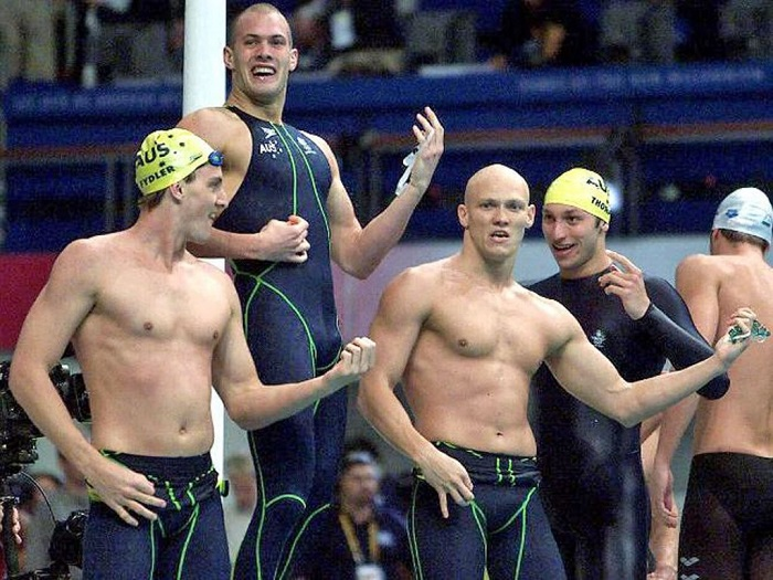 United States win men's 4x100m freestyle relay