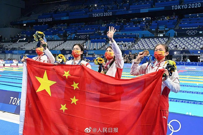 China shatters world record to win women's 4x200m freestyle relay