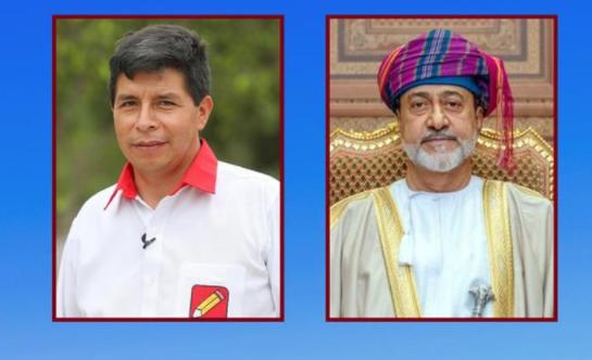 جلالة السلطان يهنئ رئيس جمهورية بيرو بمناسبة أدائه اليمين الدستورية رئيسًا جديدًا لبلاده