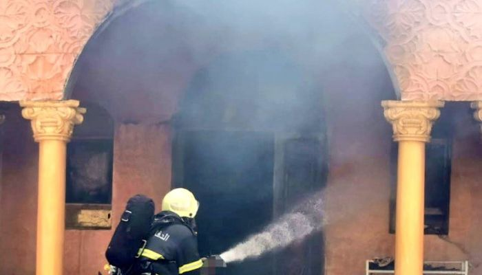 الدفاع المدني يتعامل مع حريق بأحد المنازل في ضنك